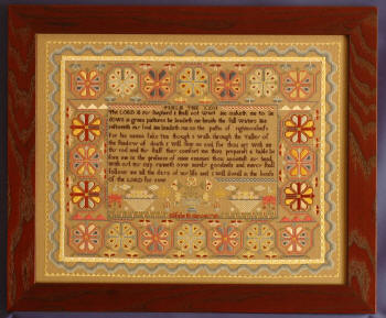 Elizabeth Simon reproduction sampler