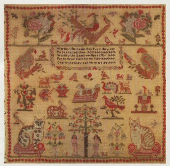 Charlotte Clayton reproduction sampler